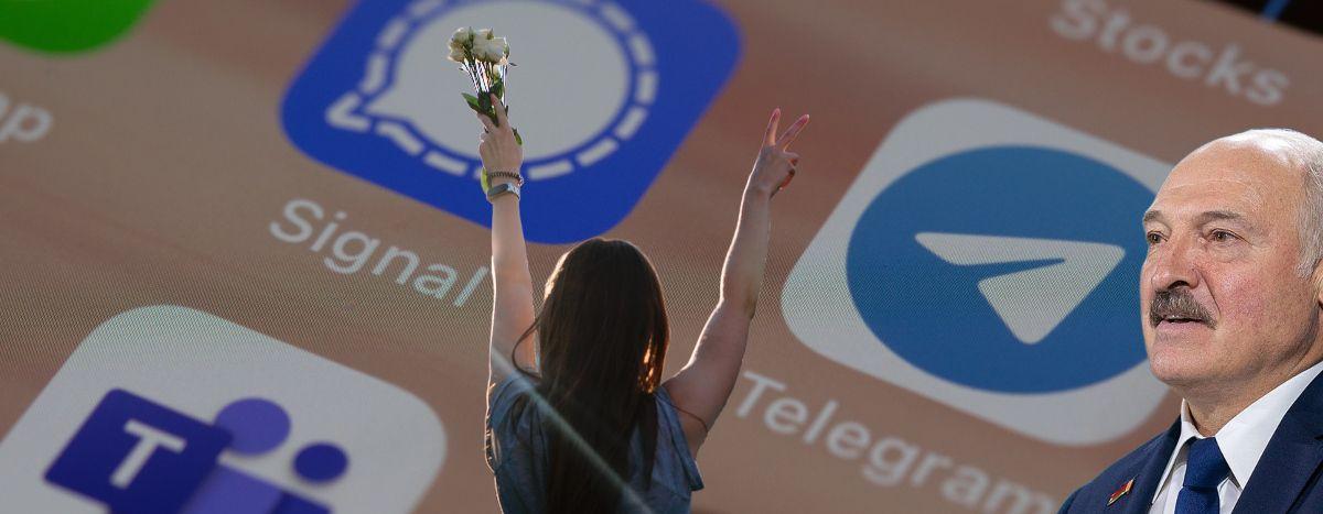 Image for Telegram: komunikator białoruskich protestów