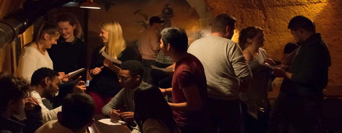 Image for Erasmus: My drunken foray in a language café