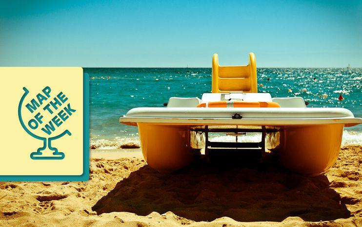 Image for Carte de la semaine : les Italiens en vacances