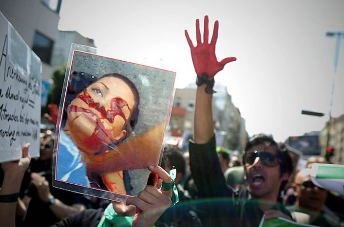 Image for Europe's Iranians react: post-election iconic images