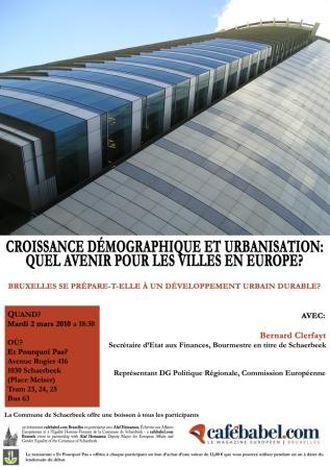 Image for Croissance démographique et urbanisation, quel avenir pour les villes en Europe? DÉBAT le 2 MARS !