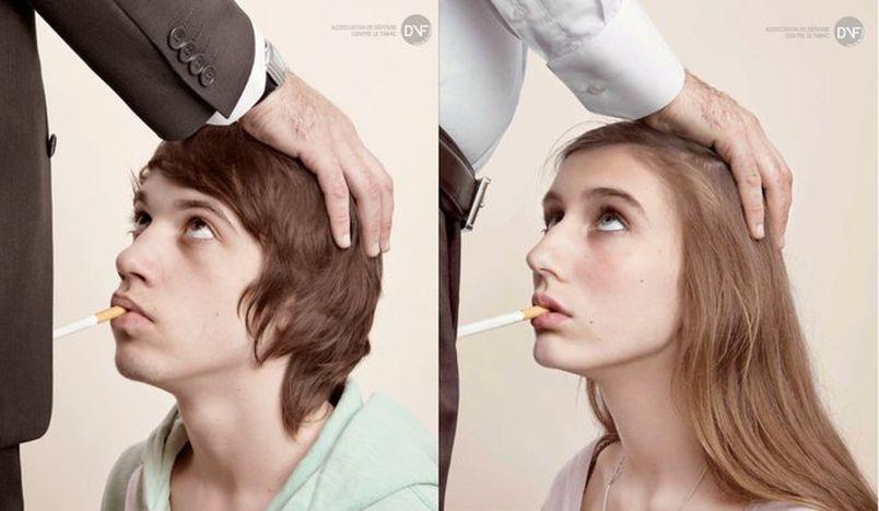 Image for Una campagna antifumo sciocca la Francia. Ma quante ne abbiamo visto...