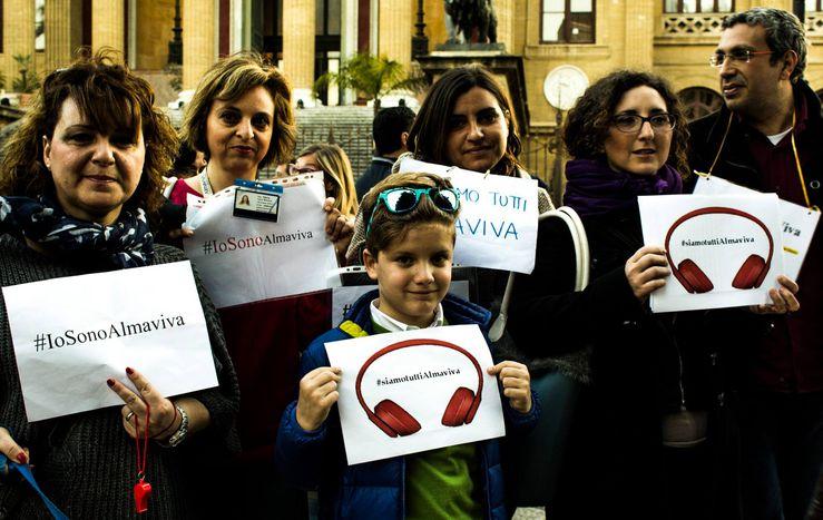 """Image for Almaviva, la protesta arriva al """"Massimo"""""""