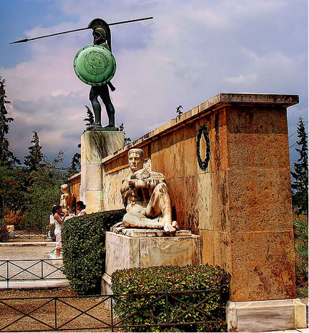 The, now 'hidden' Monument of Leonidas in Thermopylae