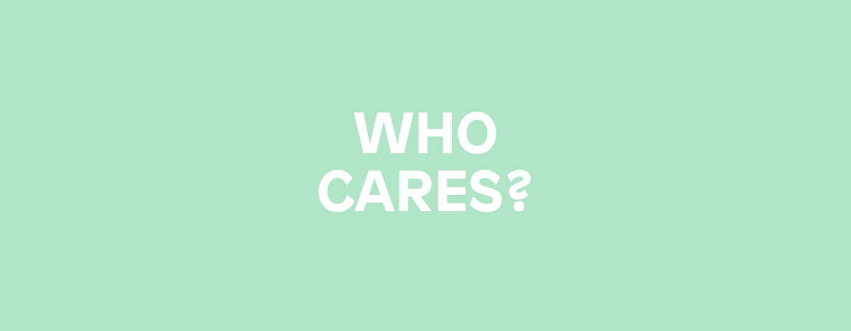 Image for Who Cares
