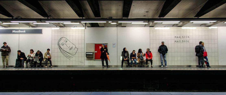 Image for Attentati a Bruxelles: lametro di Maelbeek, un mese dopo