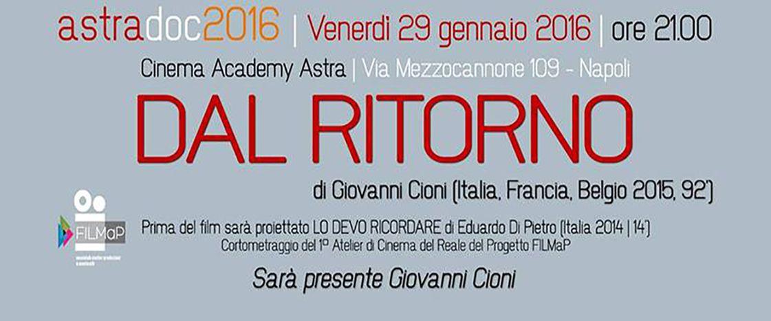 Image for Dal ritorno: intervista con Giovanni Cioni