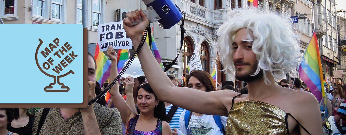 Image for Mappa della Settimana: quanto sono al sicuro i trans in Europa?