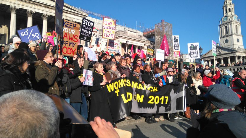 Image for London: Guys who march for their moms, wives and daughters