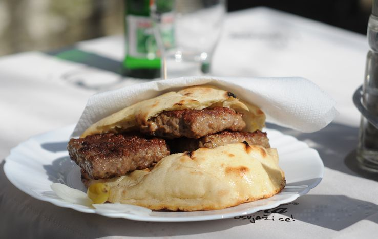 Image for Bosnian food: cevapi vs Big Mac