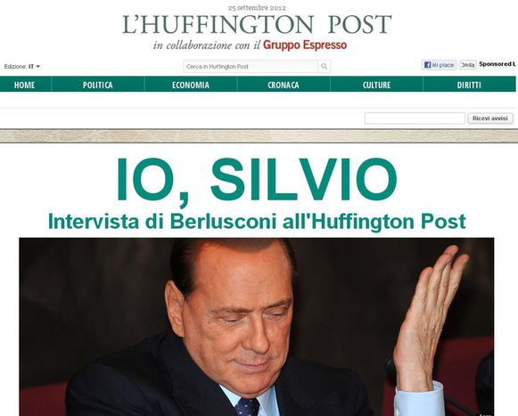 Image for Berlusconi in prima pagina, dov'è la notizia?