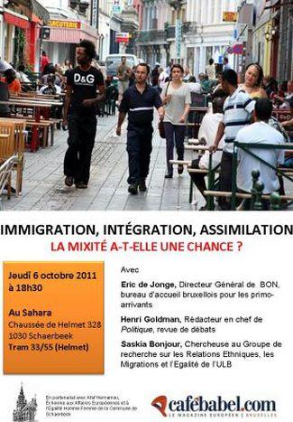 Image for Immigration, Intégration, Assimilation: la mixité a-t-elle une chance? Un débat Cafebabel Bruxelles le 6 octobre 2011