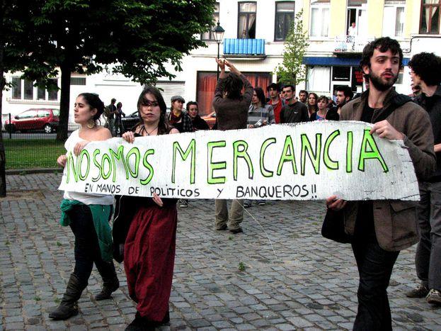 Image for A Bruxelles, les Indignés la jouent populaire