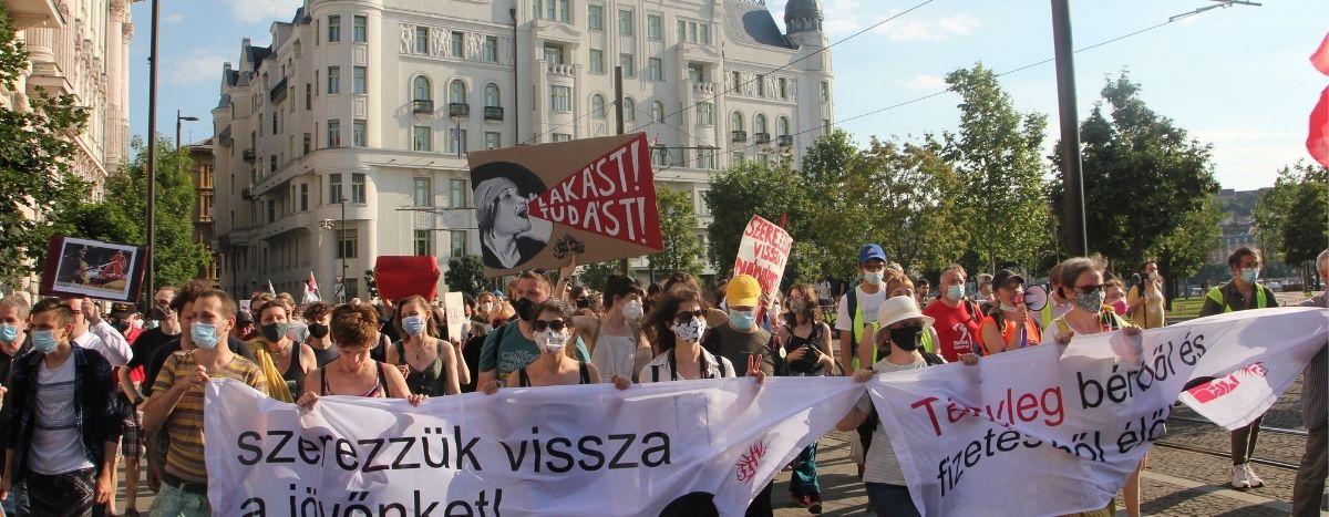Image for Ungarns Jugend geht für ihre Rechte und ihre Zukunft auf die Staße