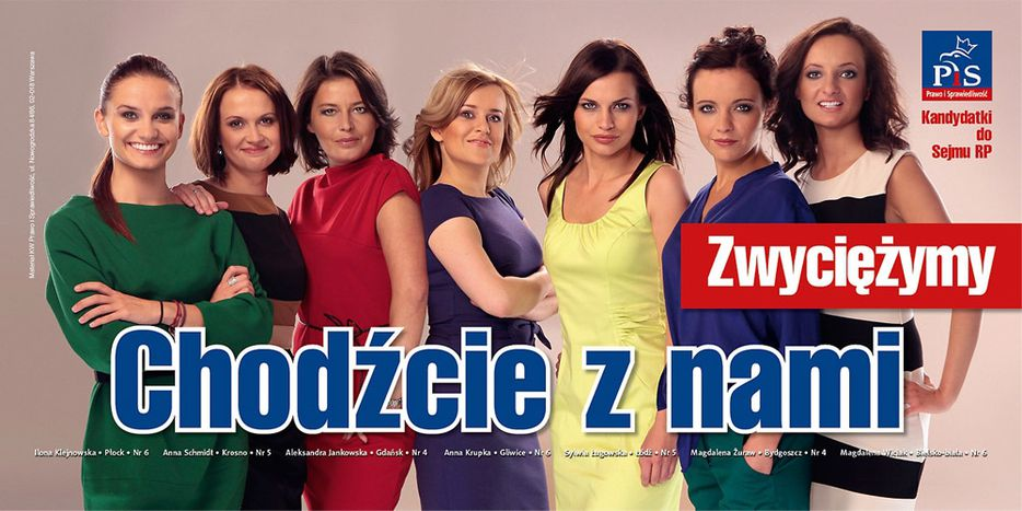 Image for Poland October election campaign: vote for Kaczynski's 'Angelina Jolie'