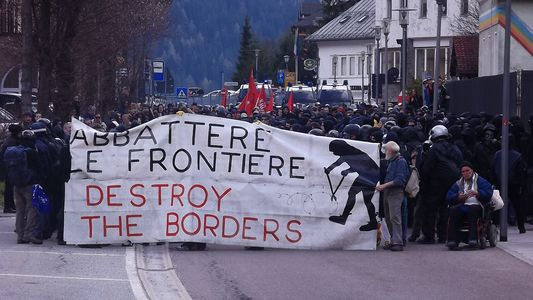 Image for No borders, no nations, no deportation al Brennero