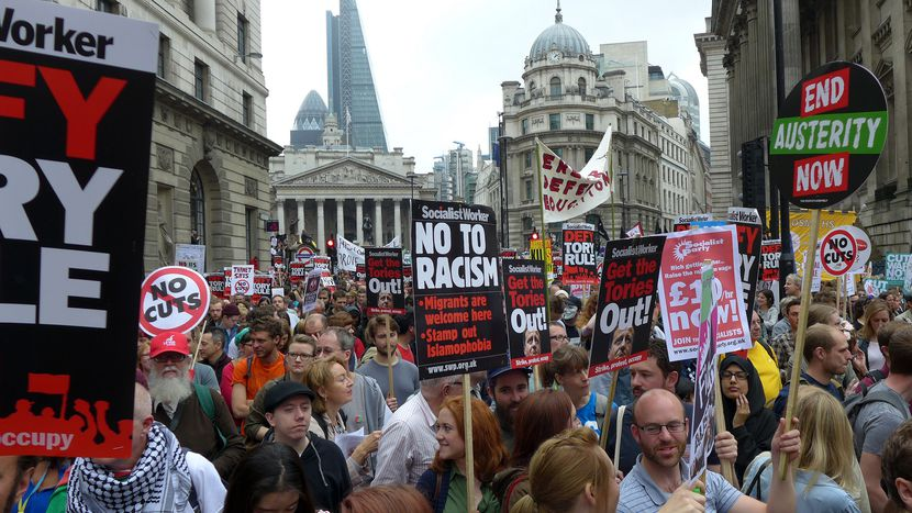 Image for The British anti-Austerity movement goes on